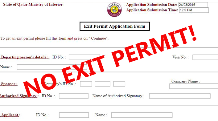 No Need Exit Permit From The Sponsor All You Need This From Exit