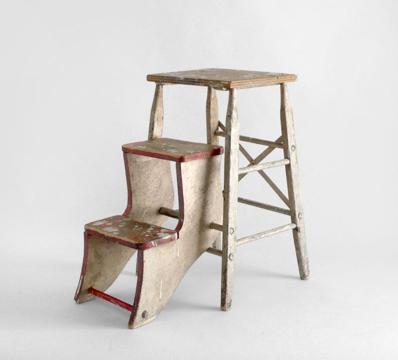 Vintage Step Ladder - Kitchen, Library, Wood, Painters ...
