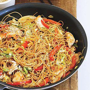 Korean Style Chicken Or Pork Noodle Bowls Recept Recept
