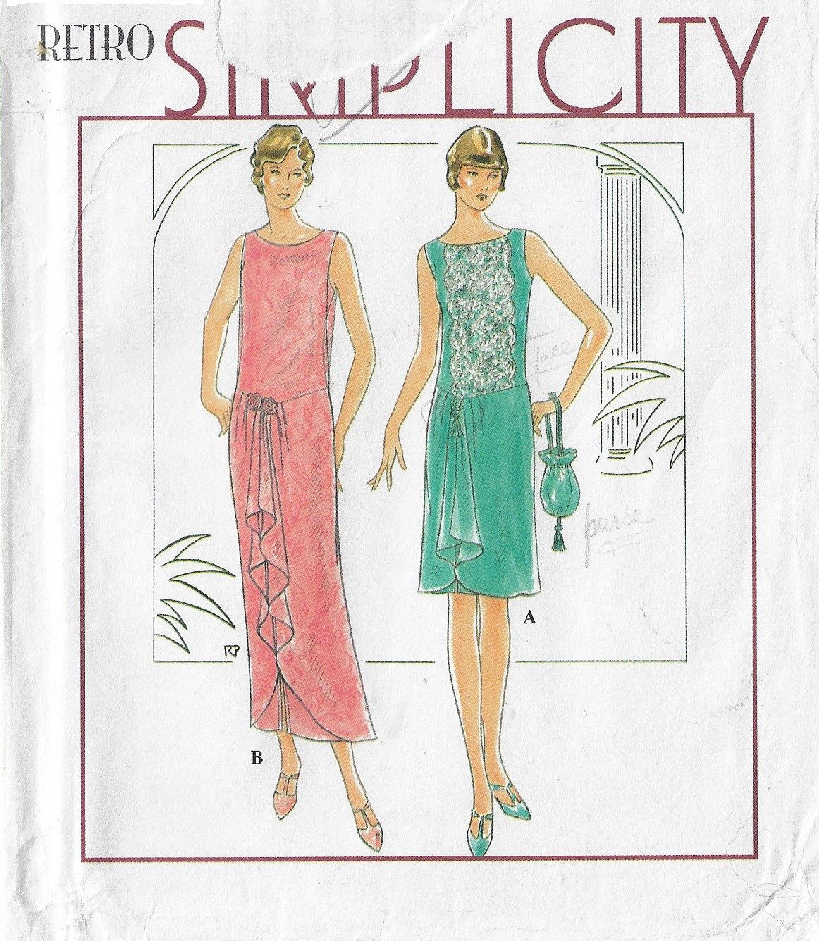Past Patterns 503 1926 slip-on evening dress flappers roaring 20s