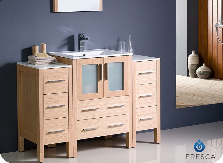 Best 1 389 00 Torino 48 Inch Light Oak Modern Bathroom Vanity 400 x 300