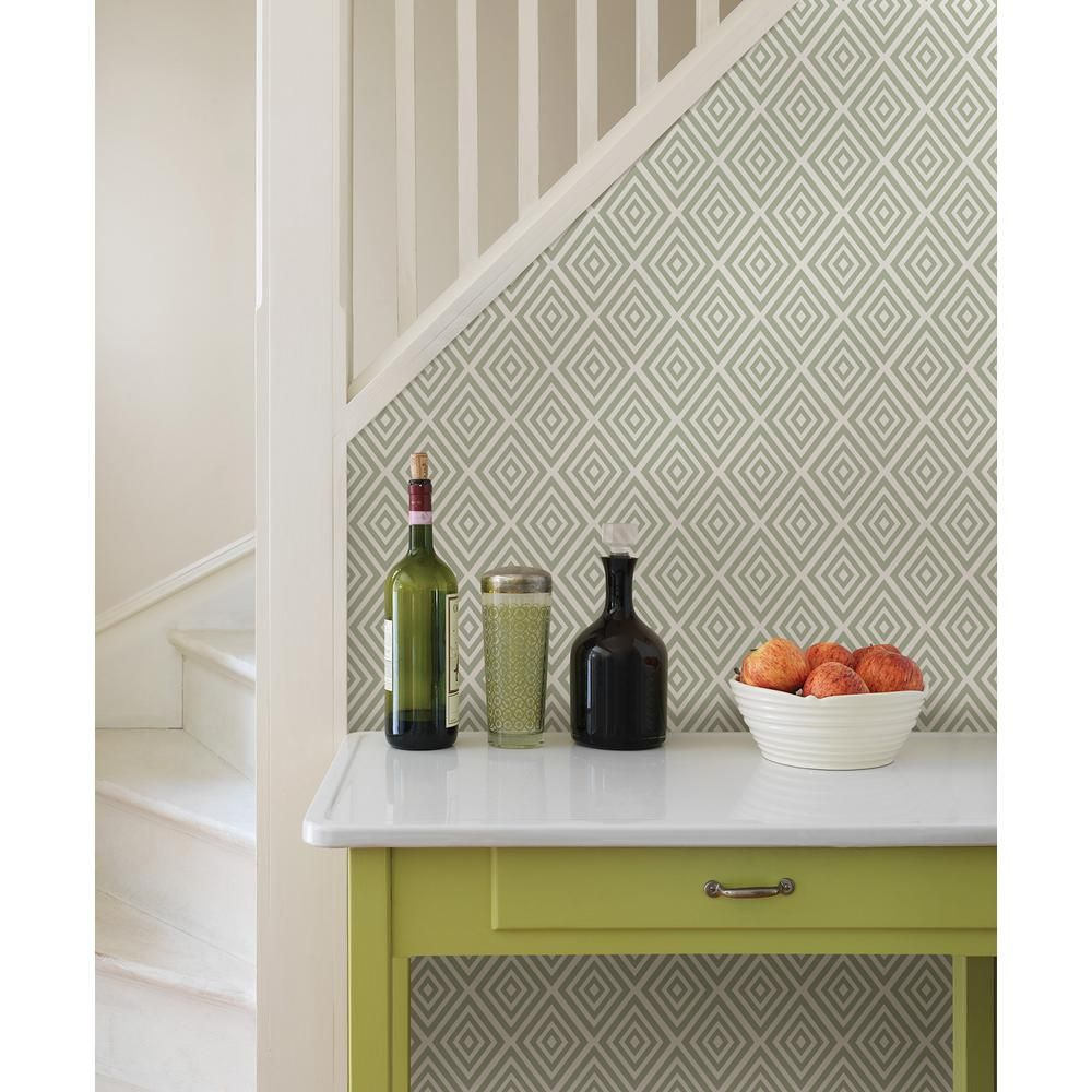 Nuwallpaper Grey Diamond Peel And Stick Wallpaper Nu2115 The Home Depot Peel And Stick Wallpaper Nuwallpaper Diamond Wall Decals