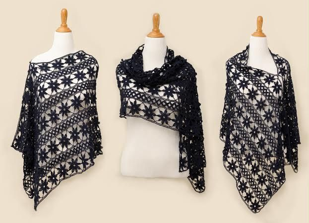 Just purchased the pattern for this beautiful wrap from Irish Crochet Lab online! Looked it over and it looks easy to work! Very excited :D