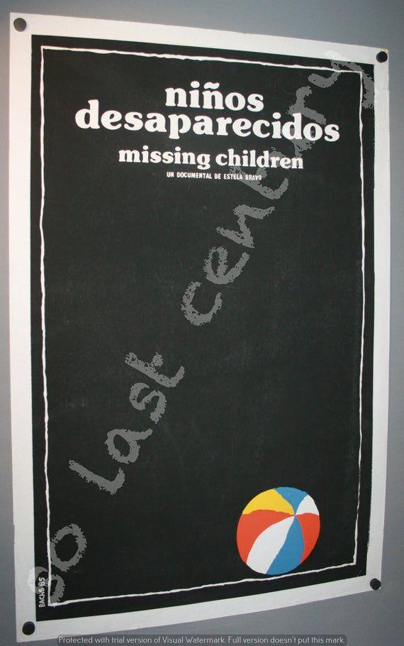 Genuine Cuban Silkscreen film poster Missing Children Hand Printed Havana ICAIC Pop Art Cuba Serigraph Serigraphia From Afar Guitar #filmposterdesign