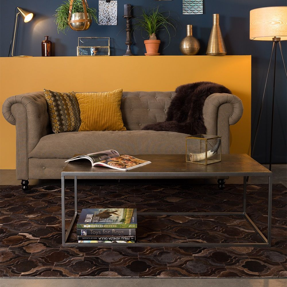 Dutchbone Bawang Cow Hide Rug In Dark Brown This On Trend  # Hamilton Atylia Meuble Tv