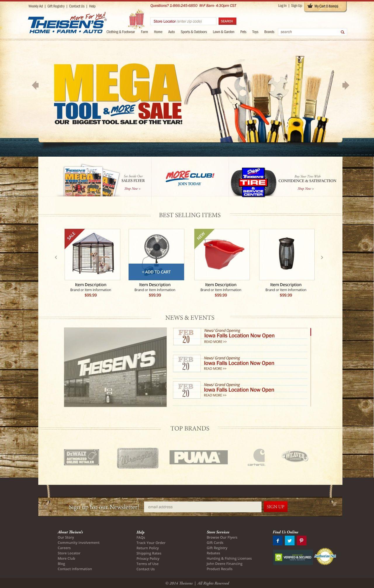 Hardware Store Web Design Subscription Box Design Branding