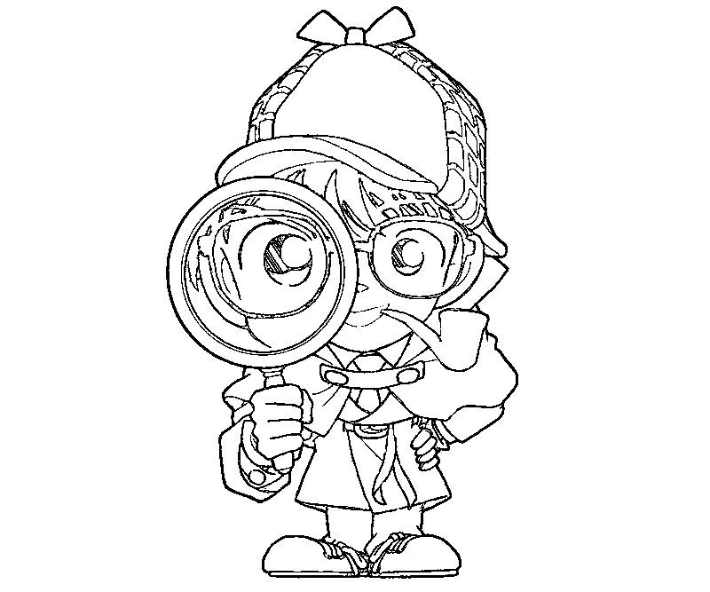 4 Detective Conan Coloring Page | Agency D3 | Pinterest