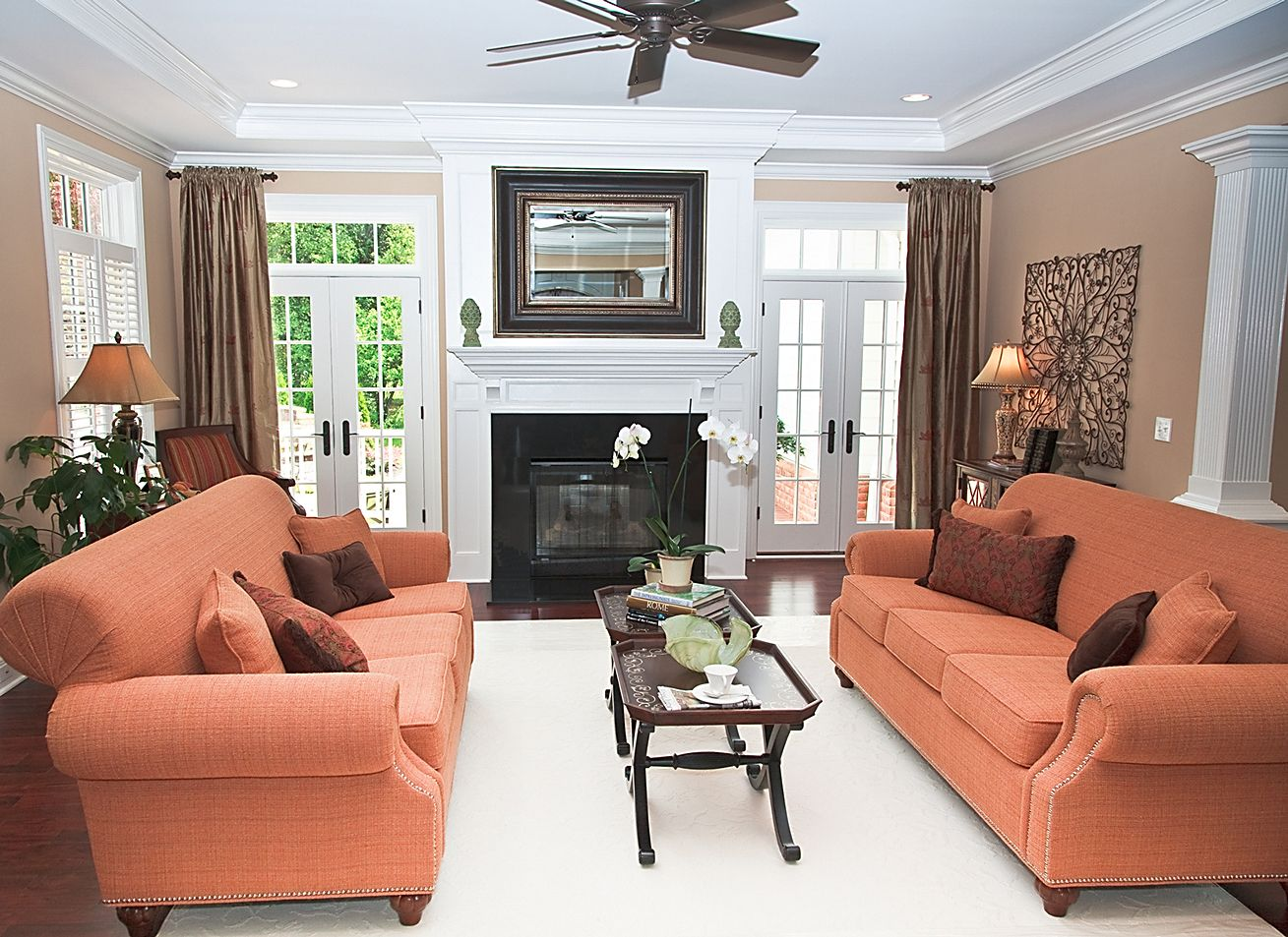 plain living room ideas no tv with fireplace and inspiration