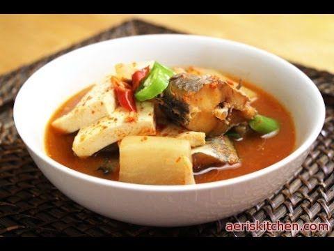Korean Food: Frozen Pollock Soup (동태 찌개)