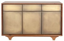 Beau Sterling Sideboard MidCentury Modern, Metal, Resin Composite, Sideboard By Wud  Furniture Design