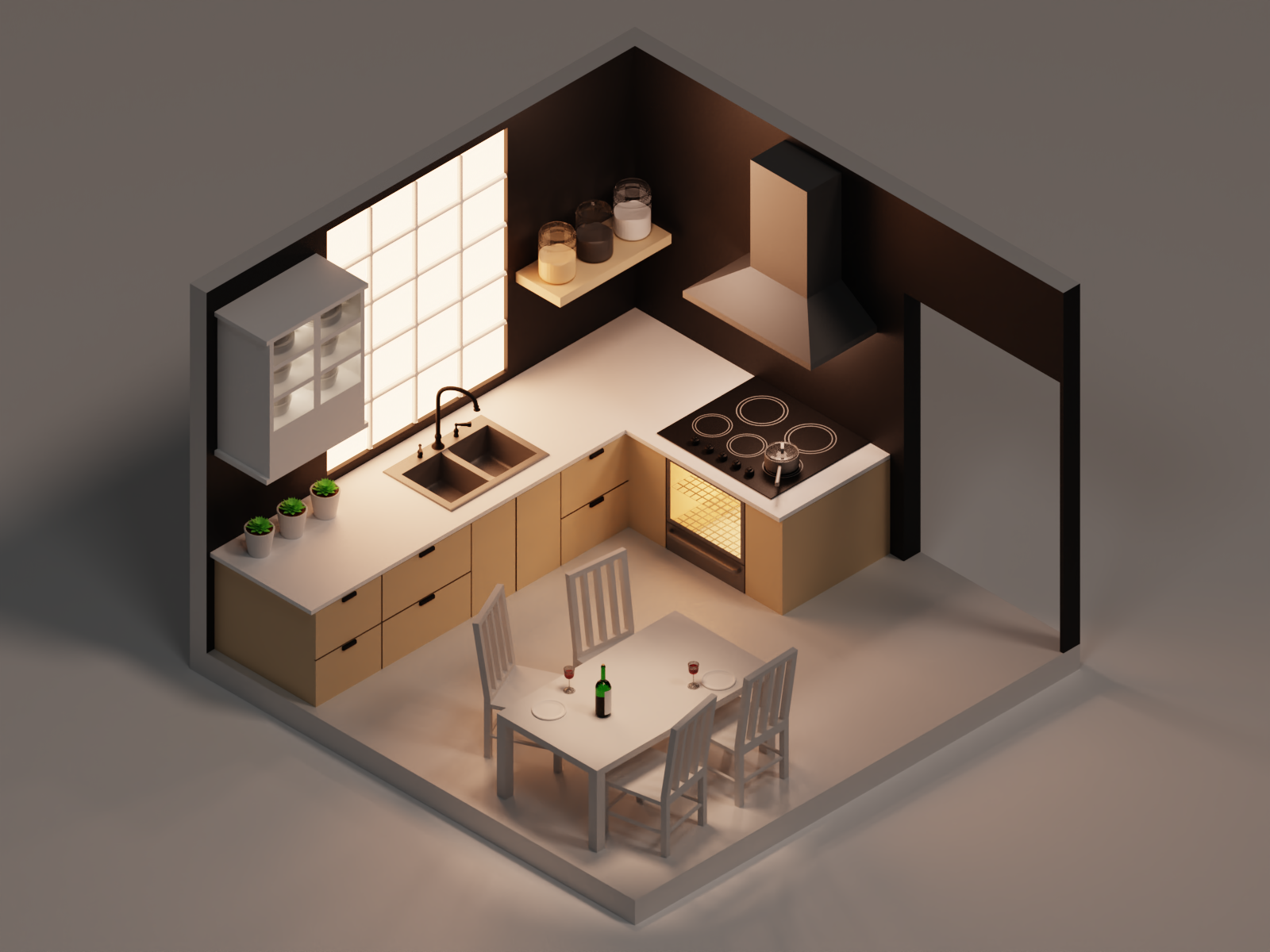 Isometric Kitchen Isometric Design Isometric Room Design