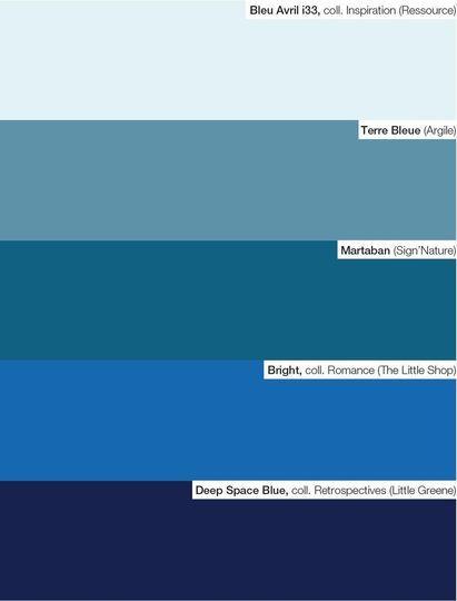 peinture nos 65 couleurs pr f r es pour votre d co les bleus pr f rer et palette. Black Bedroom Furniture Sets. Home Design Ideas