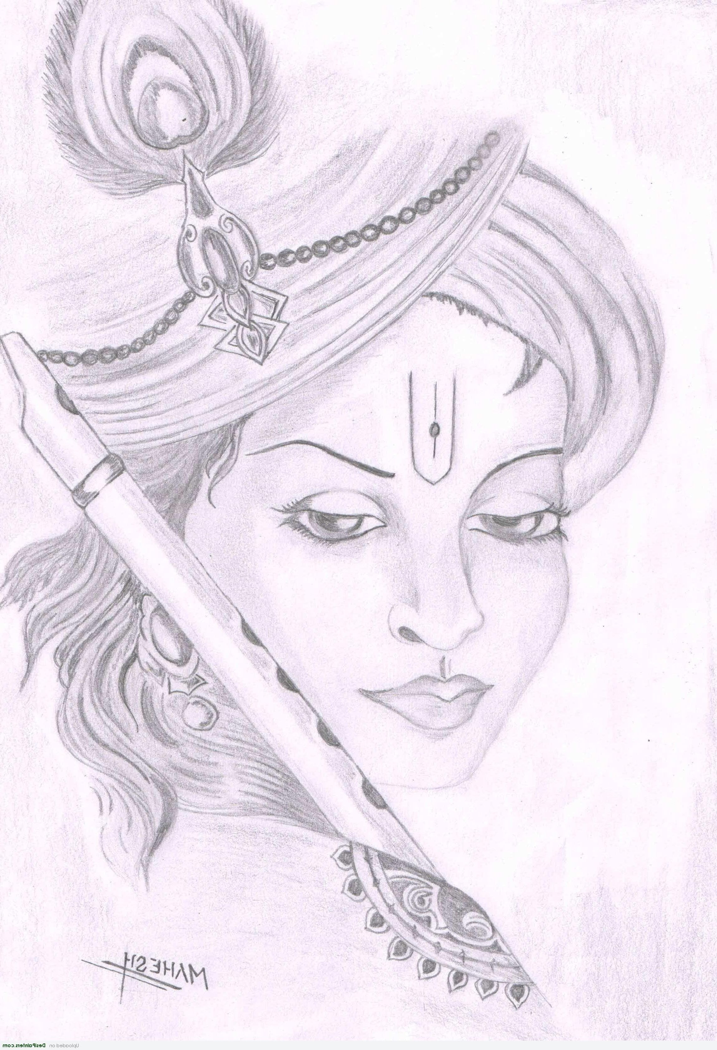 Lord krishna sketches simple hd sketches of lord krishna jai shree radha krishna
