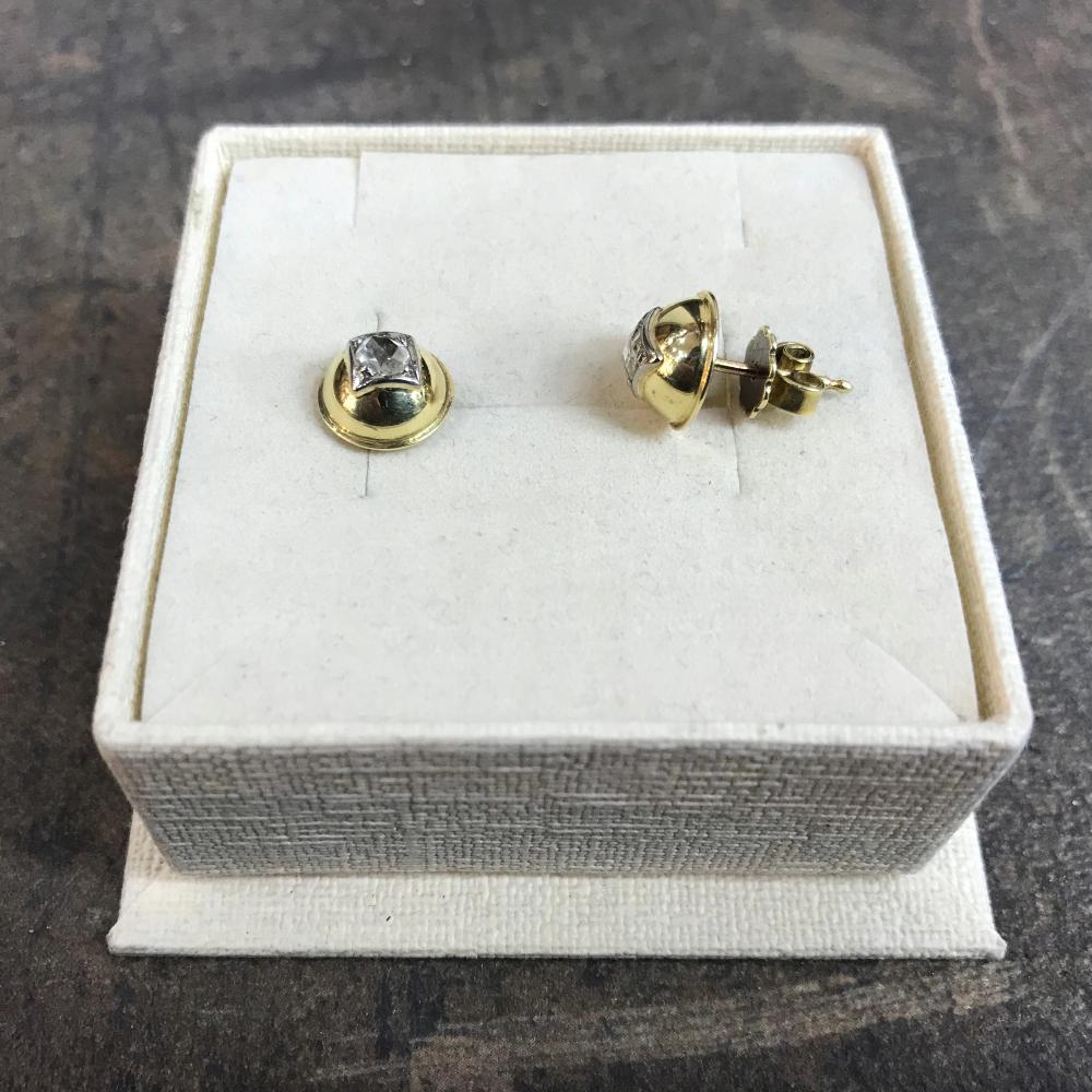 Kolczyki Zlote Z Rozetami Diamentowymi Platyna Stud Earrings Earrings Jewelry