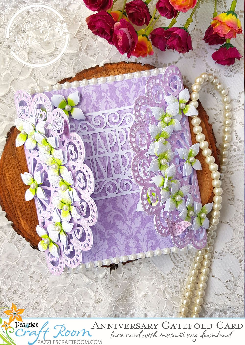 diy anniversary lace gatefold card  make this card with
