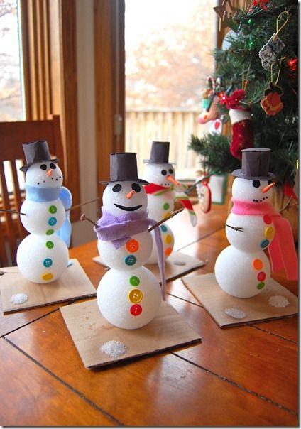 manualidades navidad para niños muñeco de nieve NAVIDAD