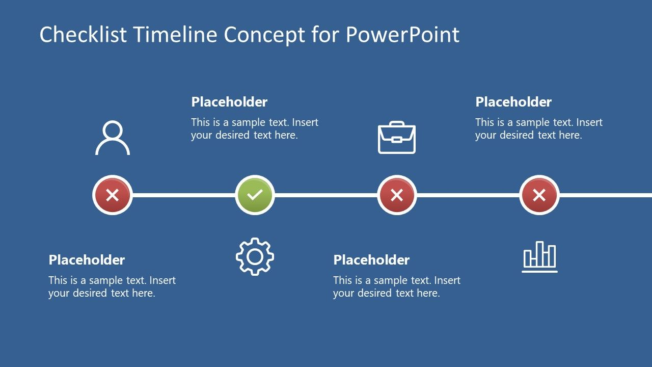 Checklist Timeline Concept For Powerpoint Slidemodel Powerpoint Powerpoint Slide Designs Business Powerpoint Templates