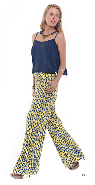 Create a statement outfit with a wide pair of pants and get the 60's style in the most stylish way!