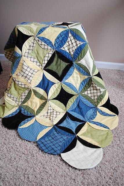 Flannel Circle Quilt | Quilts | Pinterest