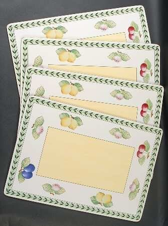 Villeroy Boch French Garden Fleurence Corkboard Placemat Set Of 4 Fine China Dinnerware By Villeroy B Fine China Dinnerware Kitchen Places Home Kitchens