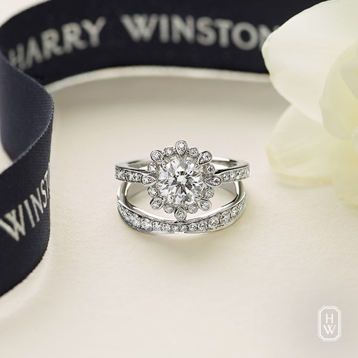 Love Is In Full Bloom With The Winston Blossom Findtheone Harrywinston Harry Winston Engagement Rings Engagement Ring Wedding Band Harry Winston Jewelry