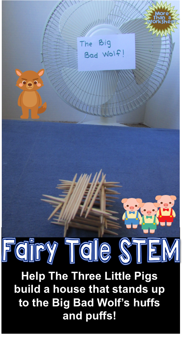 fairy tale stem three little pigs build a toothpick house ec building little bookworms. Black Bedroom Furniture Sets. Home Design Ideas