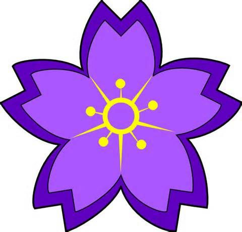 purple flower clipart yahoo image search results clipart rh pinterest co uk purple flowers clipart free pink and purple flowers clipart