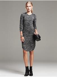 Textured Knit Shirttail Dress