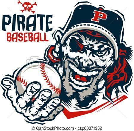 a121362a7cb pirate baseball Vector - stock illustration