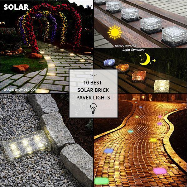 10 Best Solar Brick Paver Lights Paver Lights Brick Pavers Solar Lights Garden