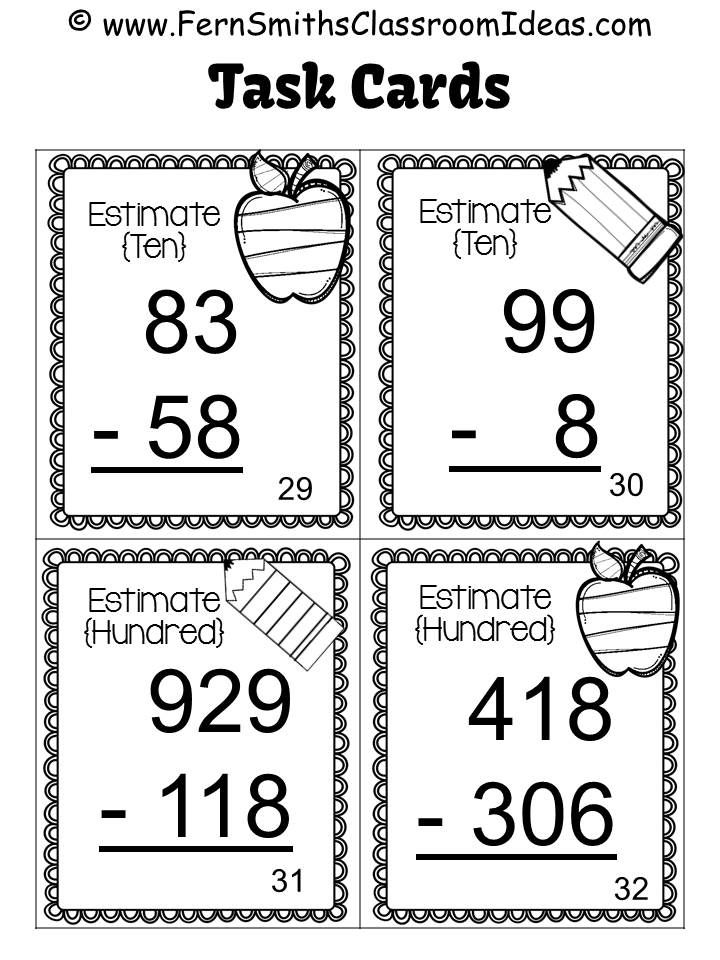 3rd Grade Go Math 1.8 Rounding to Estimate Differences