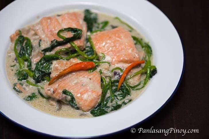 Ginataang Salmon (Salmon in Coconut Milk) Recipe Pinterest - resume yeti