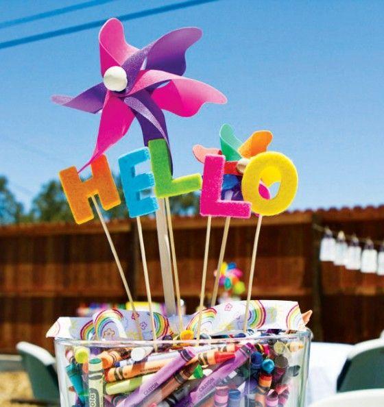 Centro Mesa Para Fiestas Infantiles Party Fiesta