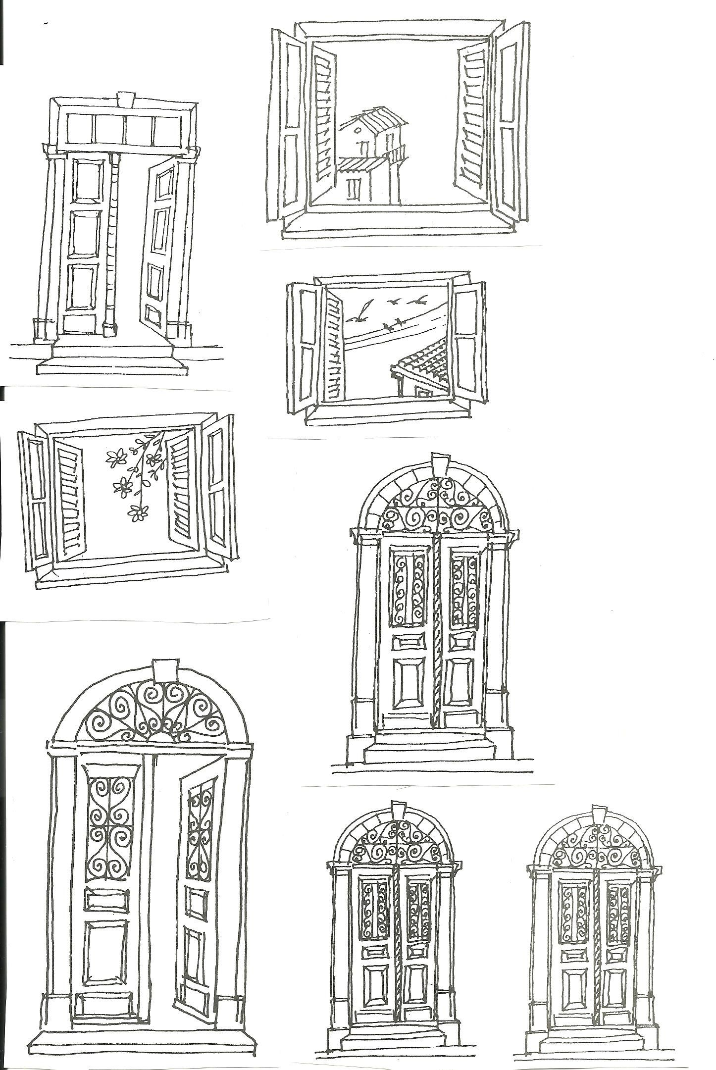 black house windows
