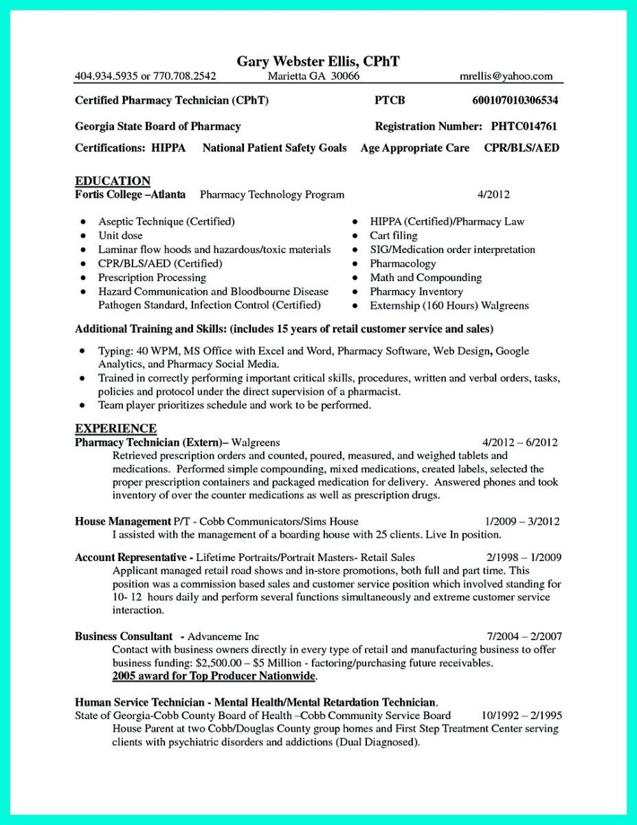 Nice What Objectives To Mention In Certified Pharmacy Technician Resume,  Check More At Http: