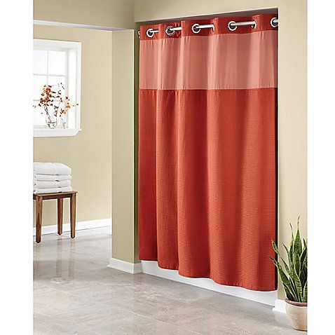 Hookless Waffle Fabric Shower Curtain With Images Fabric