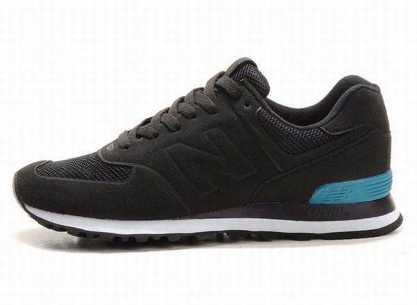 Joes New Balance 574 WS574BK Black moon Blue Sonic Womens Shoes