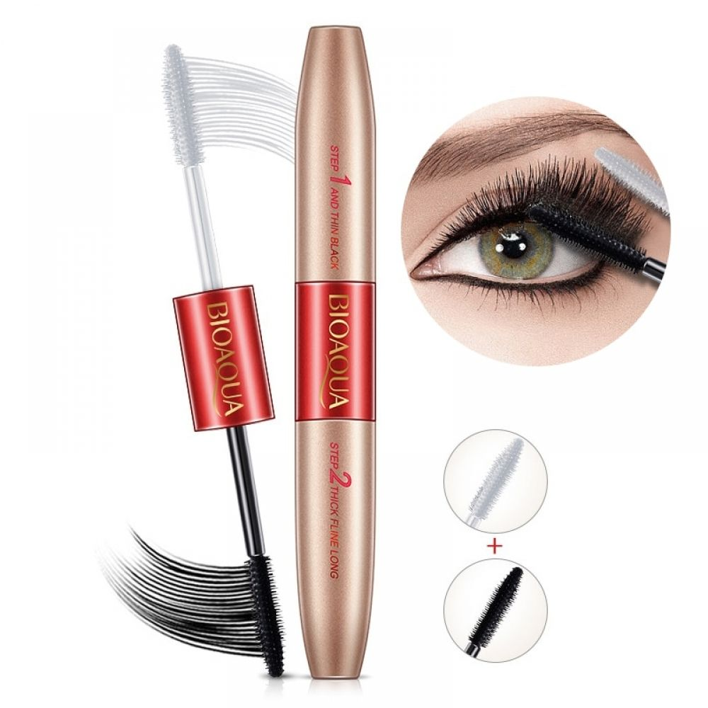 Double Ended Waterproof Mascara Fiber lash mascara, 3d