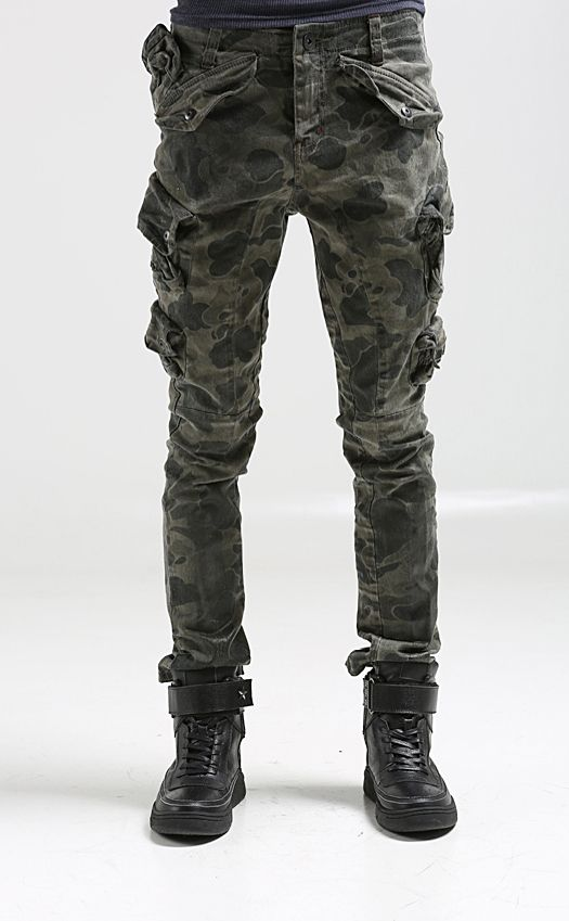 27ff227b98 Cargo Pocket Jeans for Men | Nyfashioncity Mens mulit pockets cargo pants  for men military camo .