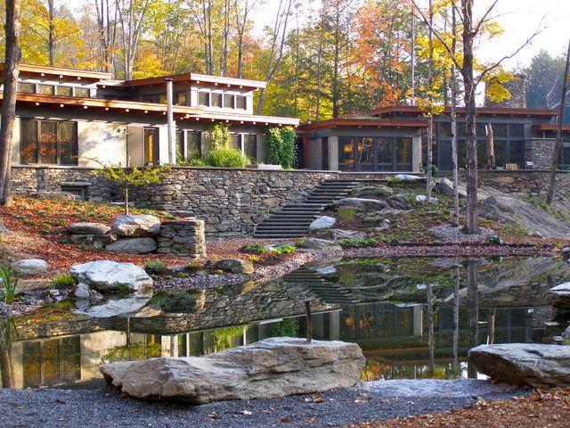17 Wonderful Rustic Landscape Ideas To Turn Your Backyard Into Heaven House Landscape Modern Backyard Landscaping Rustic Landscaping