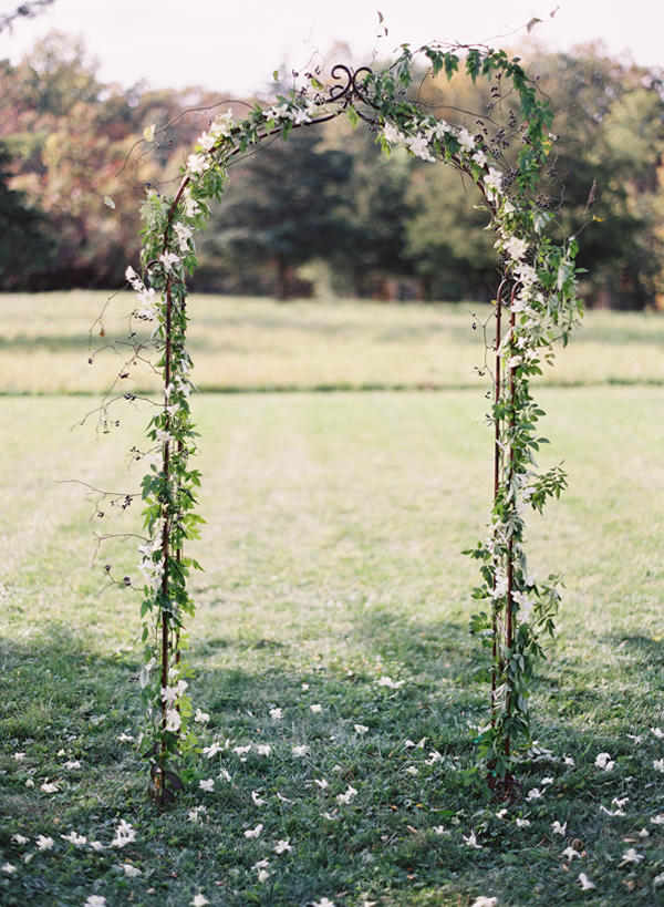 Elegant Outdoor New York Wedding Simple wedding arch
