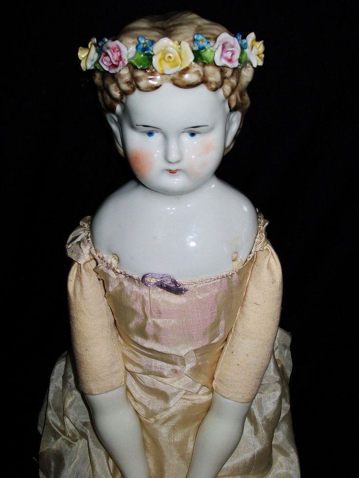 Unique Vintage China Head Doll