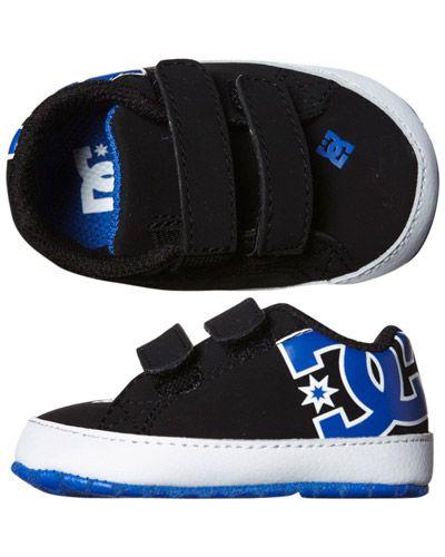 Dc Shoes Baby Court Graffik Crib Shoe Black White Royal Boy Shoes Cute Baby Shoes Crib Shoes