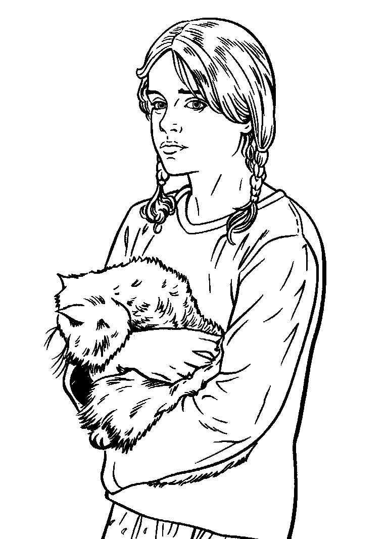 Free coloring pages harry potter - Hermione Granger Harry Potter Coloring Book Pages