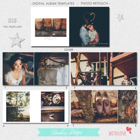 Psd 10x10 12x12 40 Pages Wedding Al Template Clic Layout 21 Spread And A Cover