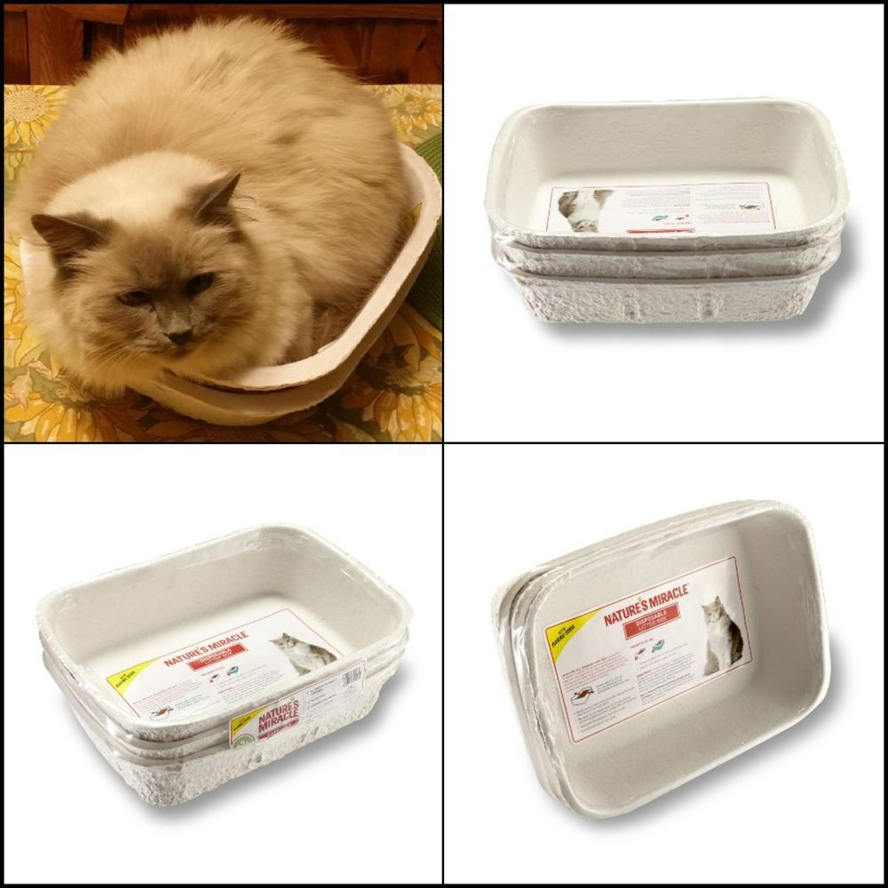 3 Regular Cat Pet Disposable Litter Box For All Litter Types No Shred No Leak Us Naturesmiracle Pets Cats Pets Litter Box