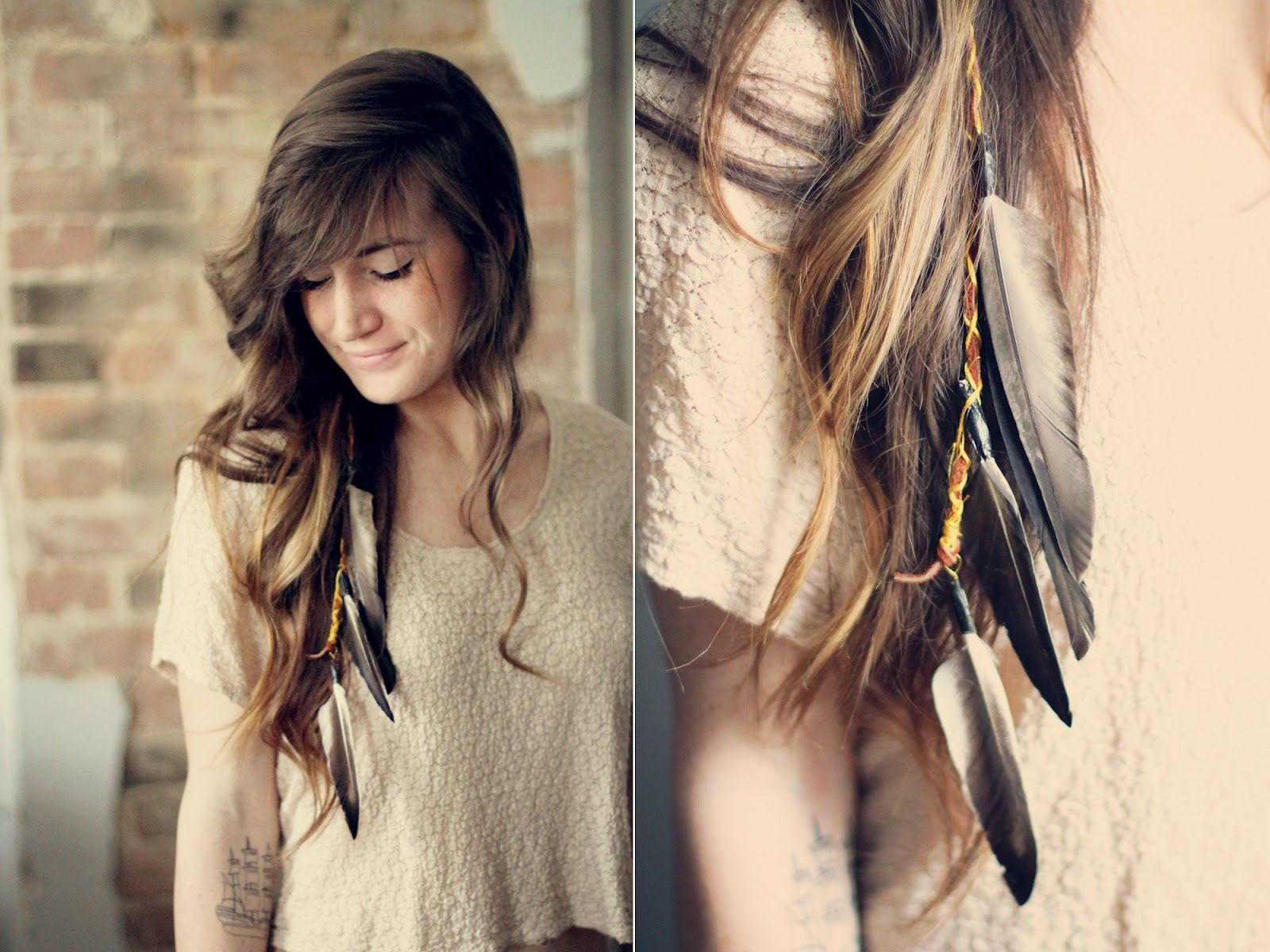 Sincerely Kinsey Boho Feather Hair Clip DIY I HAVE To Make Some Of Those For Me And My Ponie