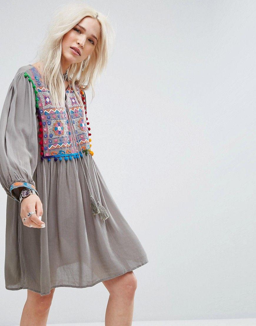 Smock Dress - Grey Glamorous Cheap Sale Websites 5dk3J
