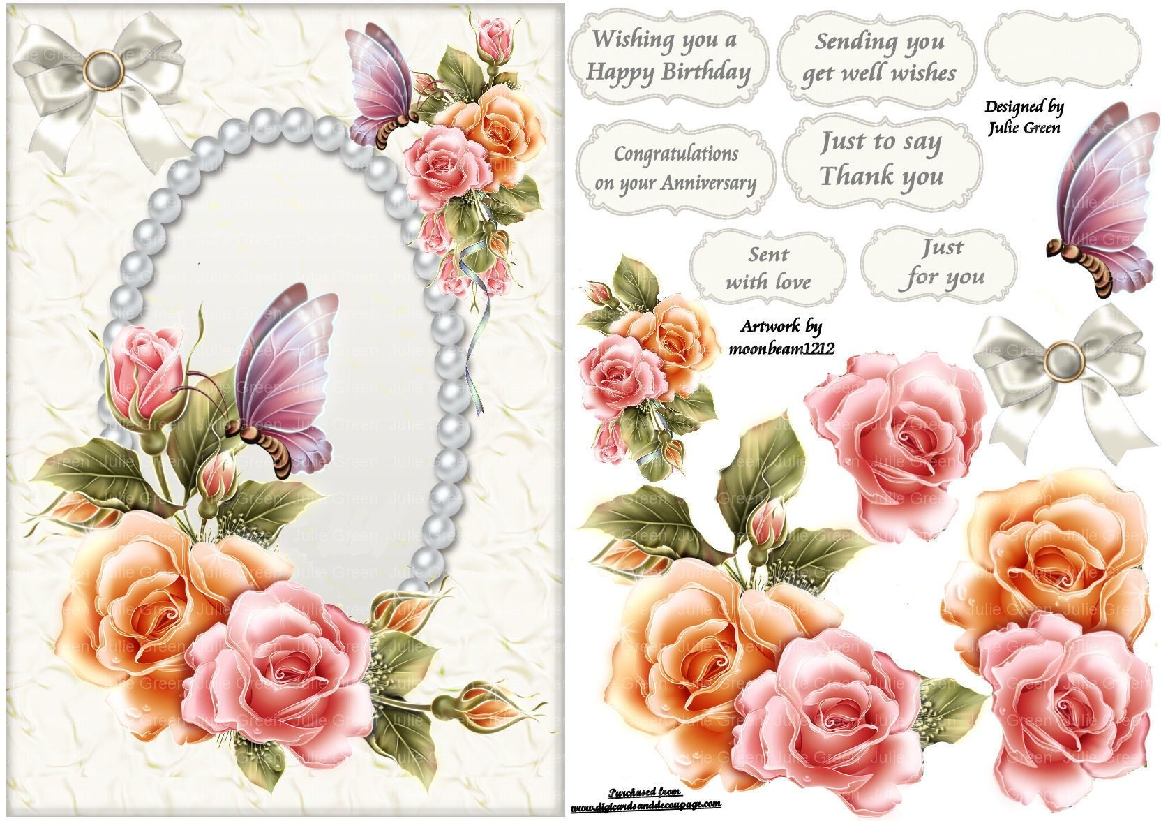 free printable decoupage card templates Google Search