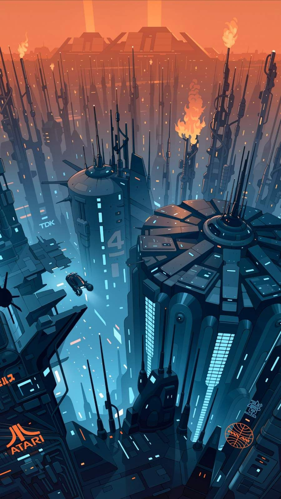 Future City Concept Art Iphone Wallpaper Futuristic Art Cyberpunk Art Blade Runner